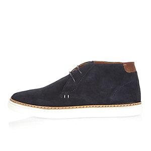 Navy chukka boots