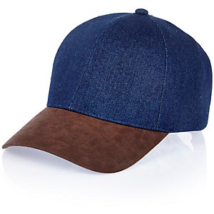 Navy denim cap
