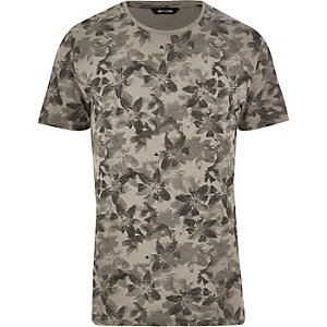 Brown Only & Sons floral print t-shirt