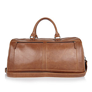 Brown large holdall