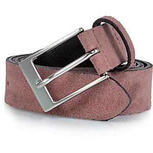 Pink suede smart belt