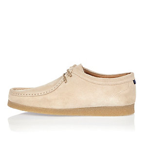 Stone suede wallabe shoes