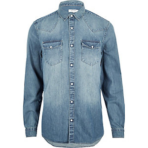Blue Western denim shirt