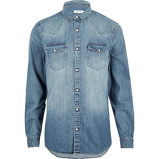 Blue Western denim shirt