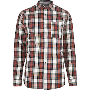 Red plaid check shirt