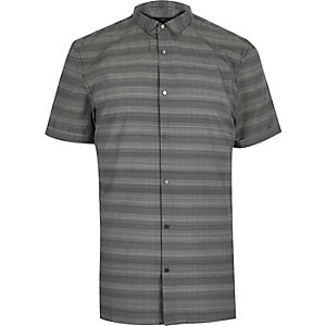 Grey stripe slim fit shirt