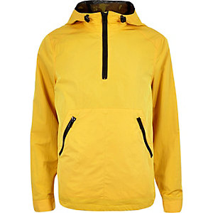 Yellow zipped mesh jacket