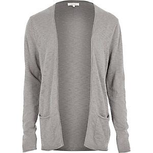 Grey open cardigan