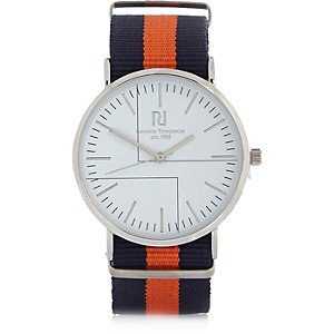 Orange stripe watch