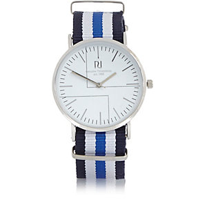 Blue stripe watch