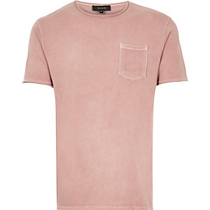 Washed pink t-shirt