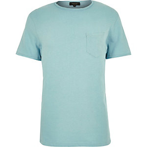 Mint green raw hem t-shirt