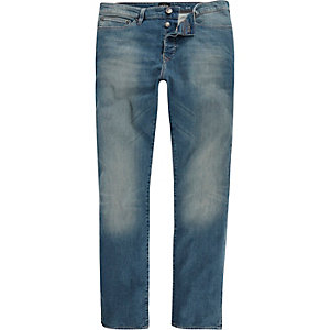 Mid wash blue Dylan slim jeans