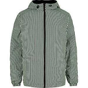 Green checked hoodie