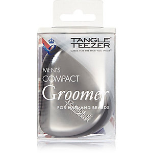 Grey Tangle Teezer compact hair beard brush