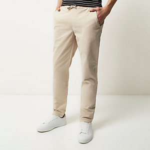 Grey tapered chino pants