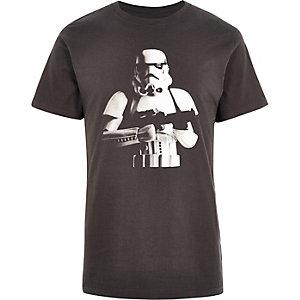 Black TSS character print t-shirt