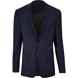 Navy slim Travel Suit jacket