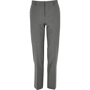 Grey slim Travel Suit pants