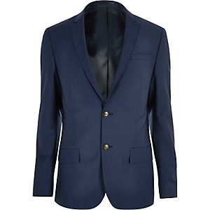 Navy skinny Travel Suit jacket