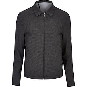 Black gingham suit jacket