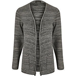 Grey knitted slouchy cardigan