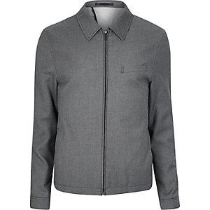 Grey textured suit jacket