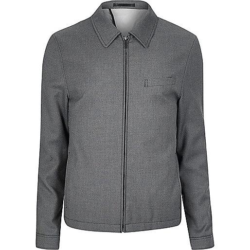 Veste de costume texturée grise