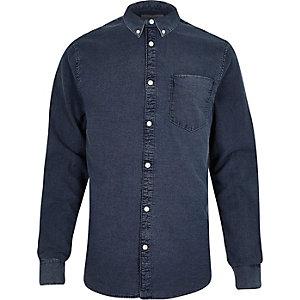 Dark blue wash Oxford shirt