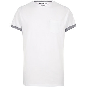 White contrast trim t-shirt