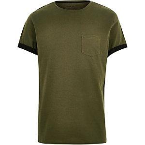 Khaki pocket t-shirt