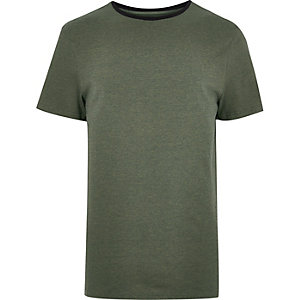 Khaki ringer t-shirt