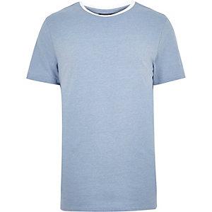 Blue neck trim t-shirt