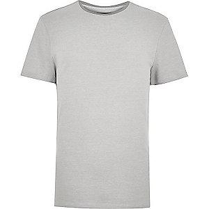 Grey neck trim t-shirt
