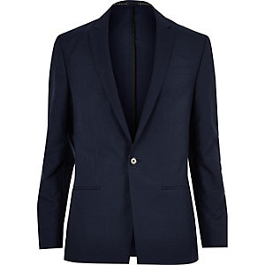 Blue skinny suit jacket