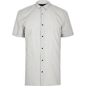 White print slim fit shirt