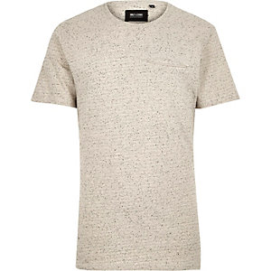 White Only & Sons zip pocket t-shirt