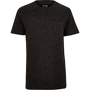 Black Only & Sons zip pocket t-shirt