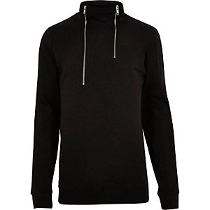 Black Only & Sons high zip neck sweater