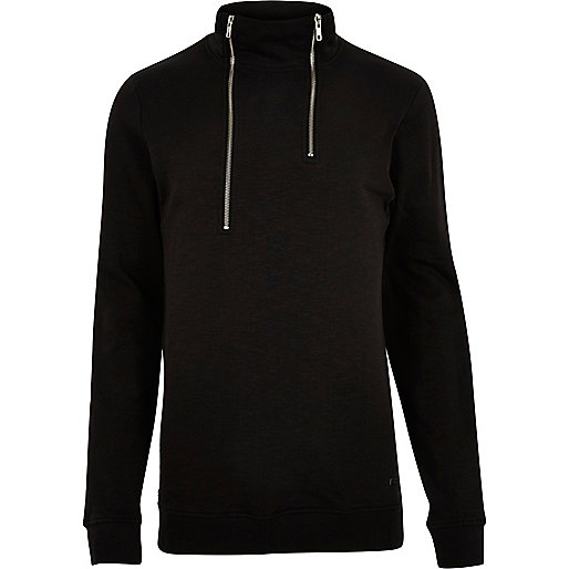Black Only & Sons high zip neck jumper