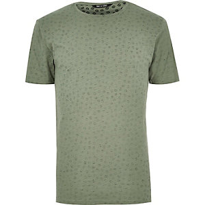 Green Only & Sons micro print t-shirt