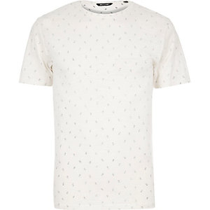 White Only & Sons micro print t-shirt