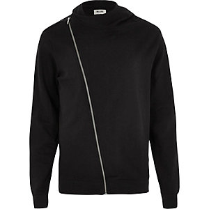 Black Only & Sons biker zip hoodie