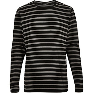 Black Only & Sons striped sweatshirt