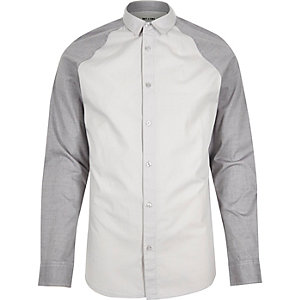 Grey Only & Sons raglan sleeve shirt