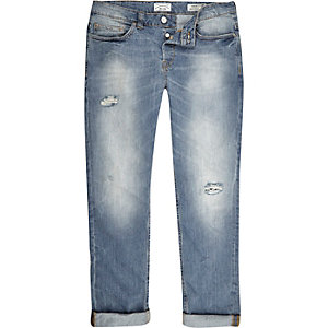 Mid wash Only & Sons ripped jeans