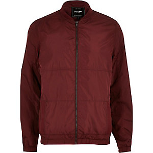 Red Only & Sons shell bomber jacket
