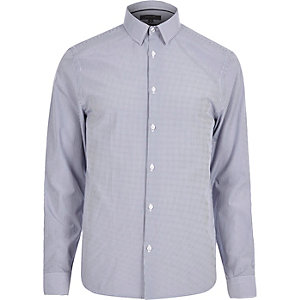 Blue smart stripe shirt