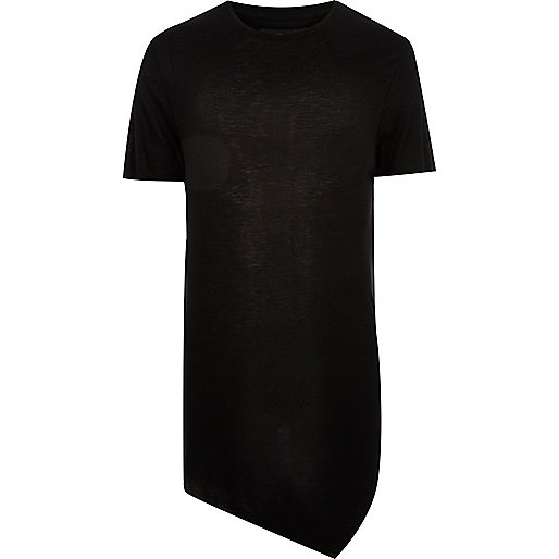 Black aysmmetric T-shirt