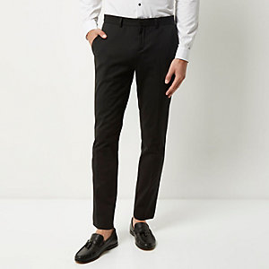 Black skinny fit trouser